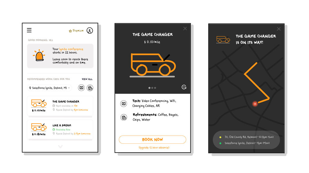 AI Driven Car Booking (Concept Wireframe)