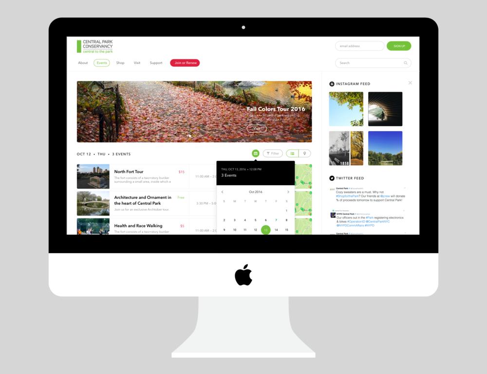 Central Park Conservancy (Website Redesign)