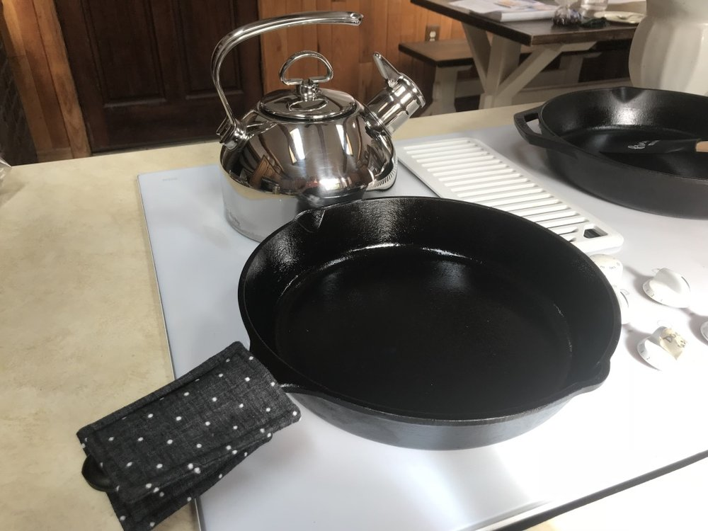 Style, safety, and comfort for your skillets and casserole dishes