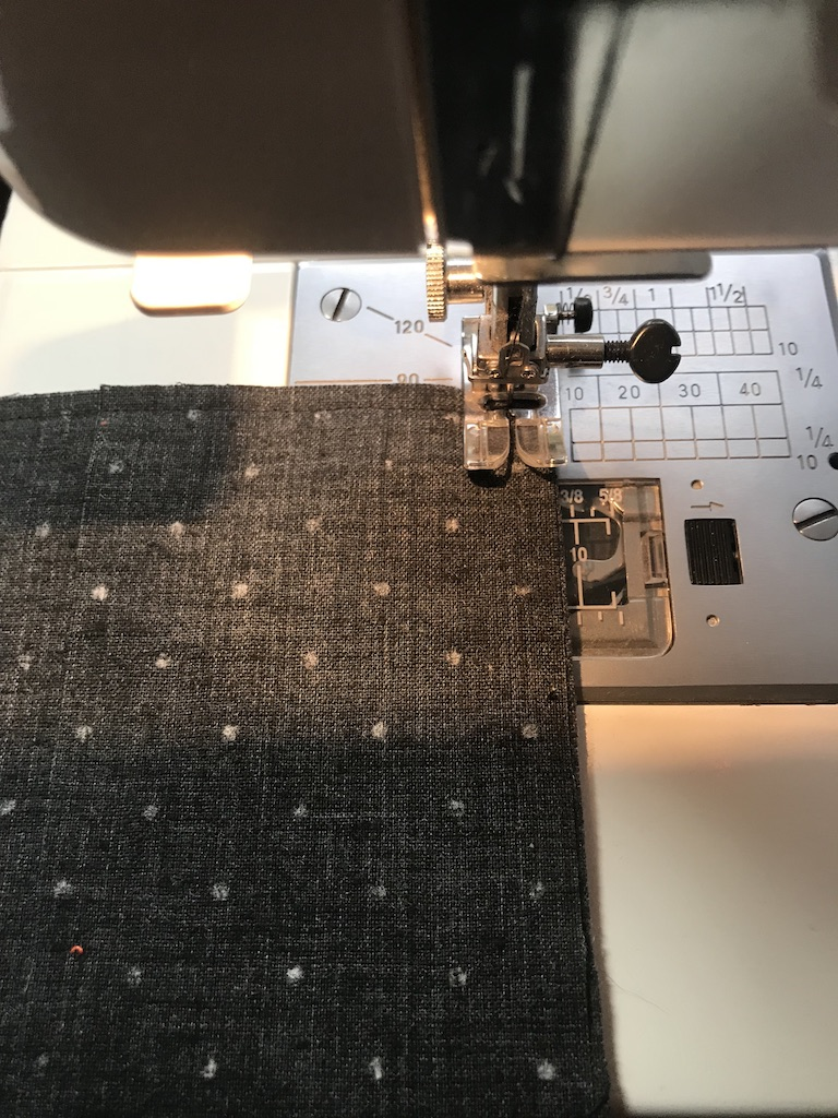 Sew a 1/4-inch seam around all four sides