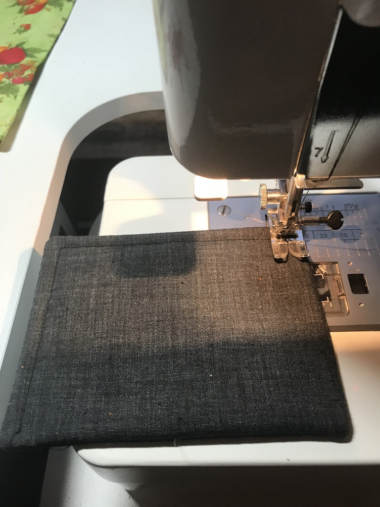 Stitch a 1/4-inch border seam around all four sides