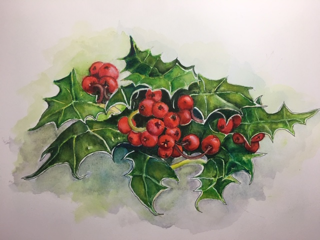 Holly berries spray.jpg