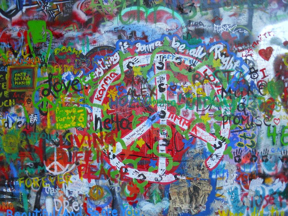 John Lennon Wall - Prague, Czech Republic