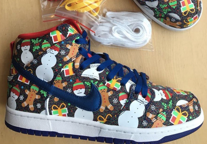"CONCEPTS X NIKE SB DUNK HIGH ""UGLY CHRISTMAS SWEATER — iLL Sneakers ... c3ee643cebb3"