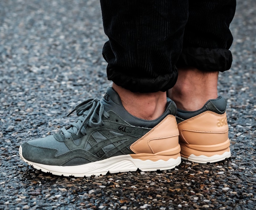 ASICS GEL LYTE V WITH TAN LEATHER HEELS