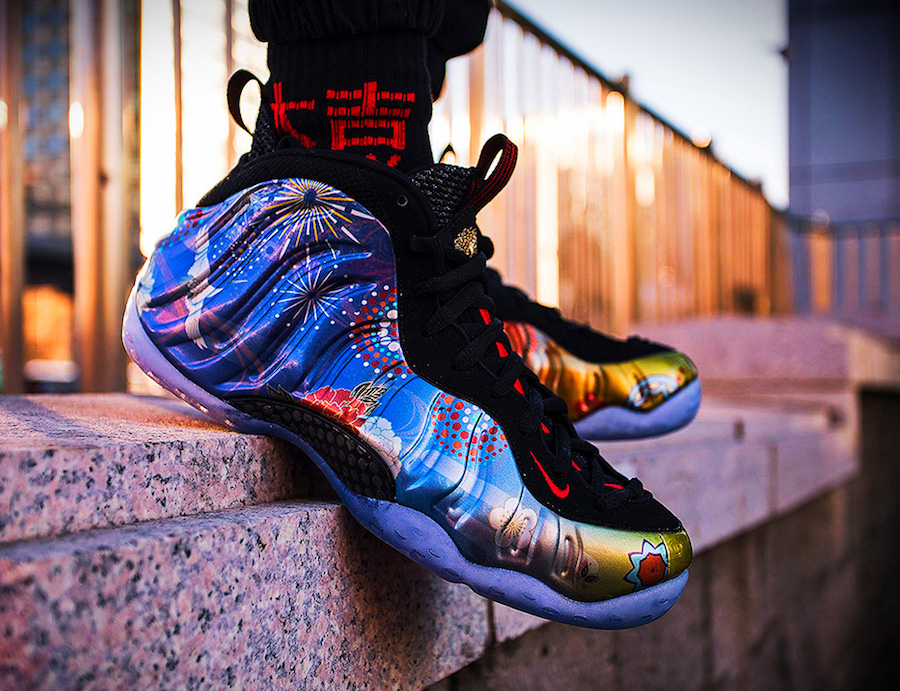 Air Foamposite One Prm Thermal Map atomic red atomic red
