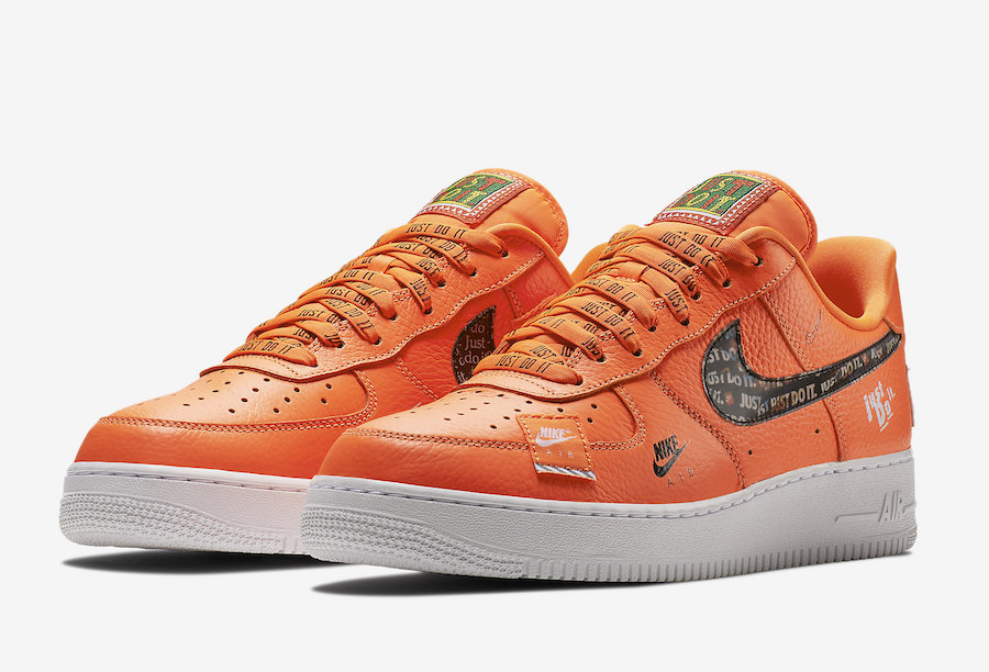 nike air force 1 just do it arancioni