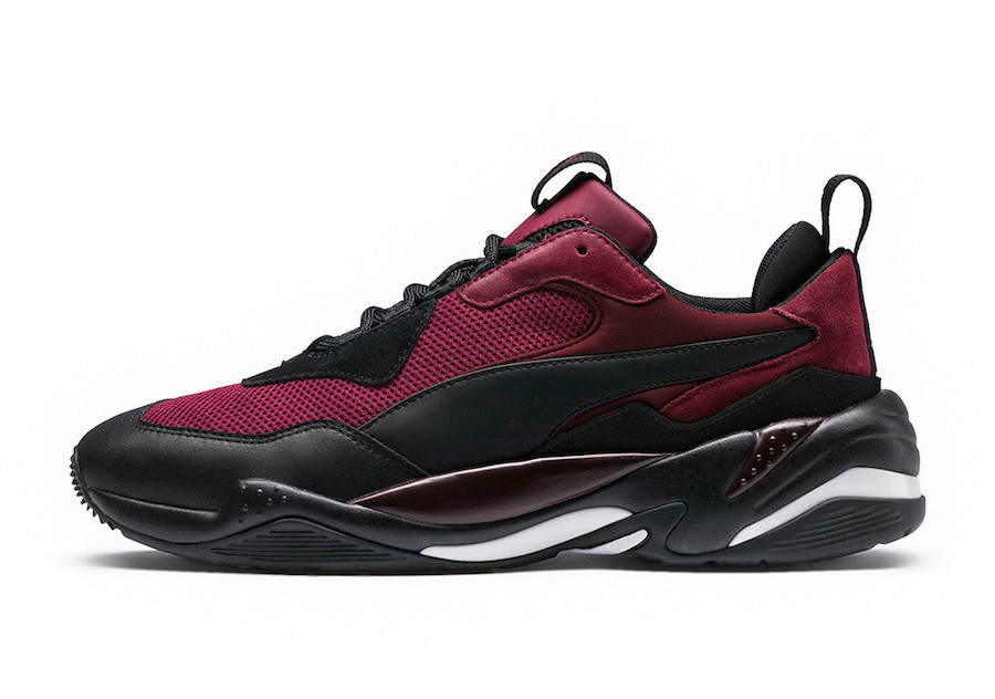 PUMA THUNDER SPECTRA IN BURGUNDY AND