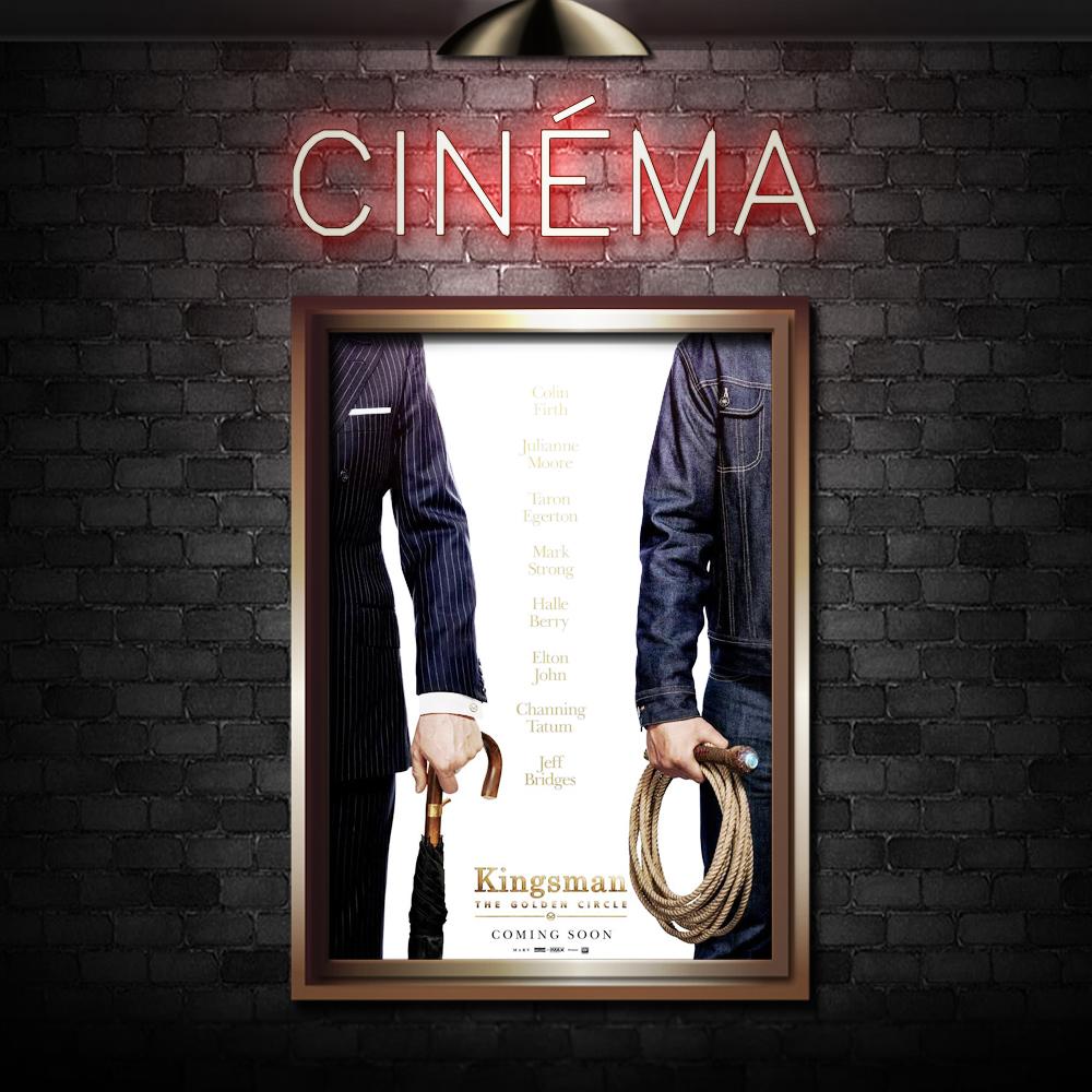 KINGSMAN: THE GOLDEN CIRCLE - Directed by Matthew VaughnStarring Taron Egerton, Colin Firth, Halle Berry, Channing Tatum