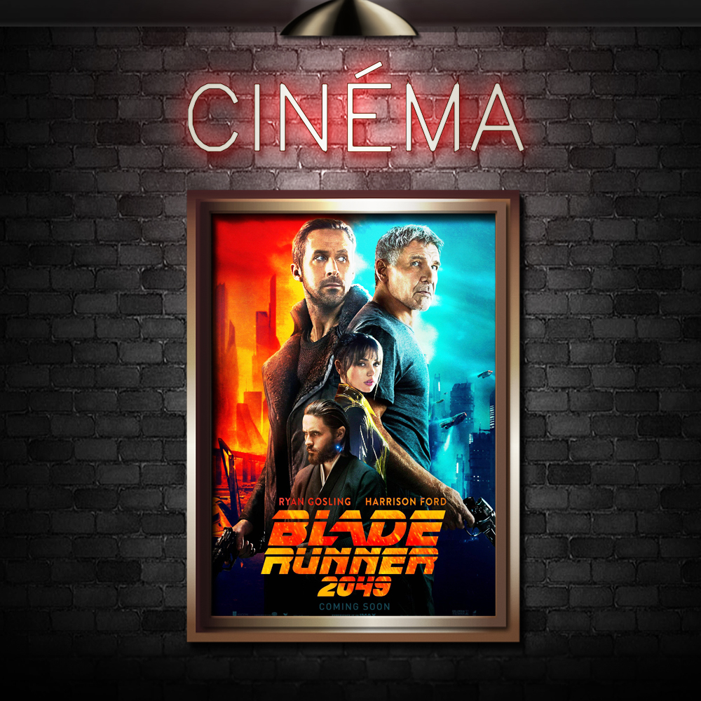 BLADE RUNNER 2049 - Directed by Denis VilleneuveStarring Harrison Ford, Ryan Gosling, Robin Wright, Jared Leto
