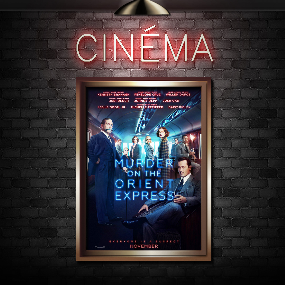 MURDER ON THE ORIENT EXPRESS - Directed by Kenneth BranaghStarring Kenneth Branagh, Penelope Cruz, Willem Dafoe, Judi Dench, Leslie Odorm, Jr., Johnny Depp, Michelle Pfeifer