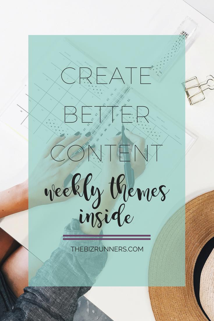 content ideas, social media, facebook, themes,