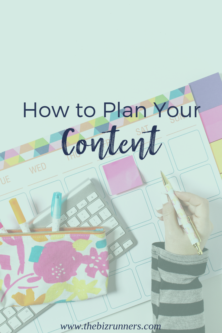social media, plan content, the biz runners