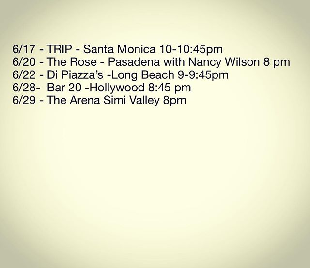 Got some shows coming up!