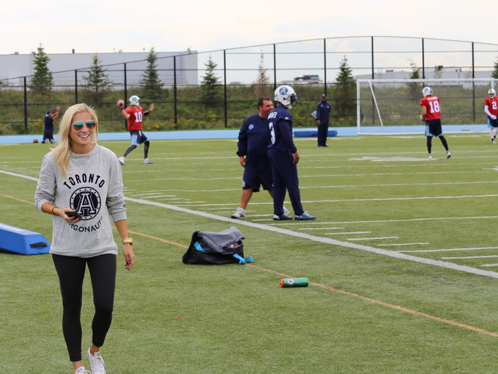 "<strong>CFL – The Snap</strong><br><br>KATE PETTERSEN: ""I GREW UP ON THE SIDELINES"" AND THIS WEEKEND SHE HEADS TO REGINA."