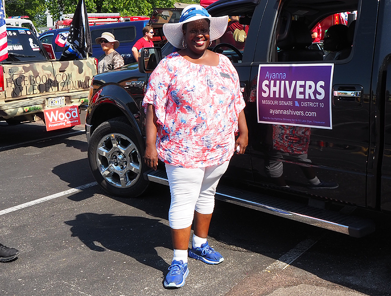 Ayanna Shivers, 10th Senate District candidate.  A great lady with a beautiful smile.
