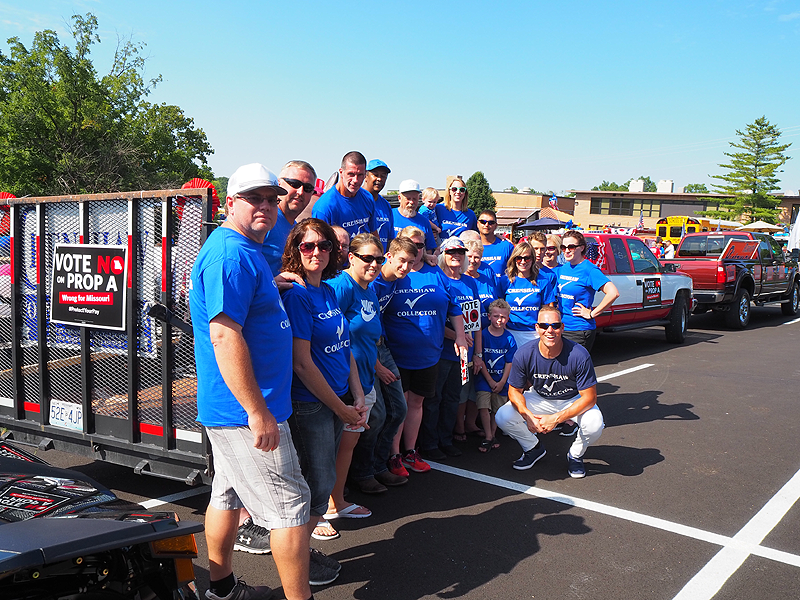 There was time for Trent's volunteers to take a group photo as they waited for the parade to begin.