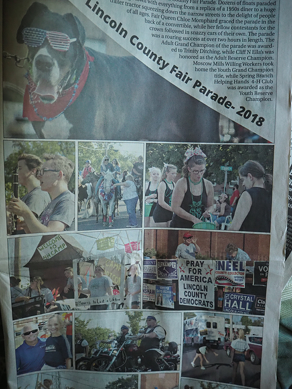 And what's that I see in the Lincoln County Journal?