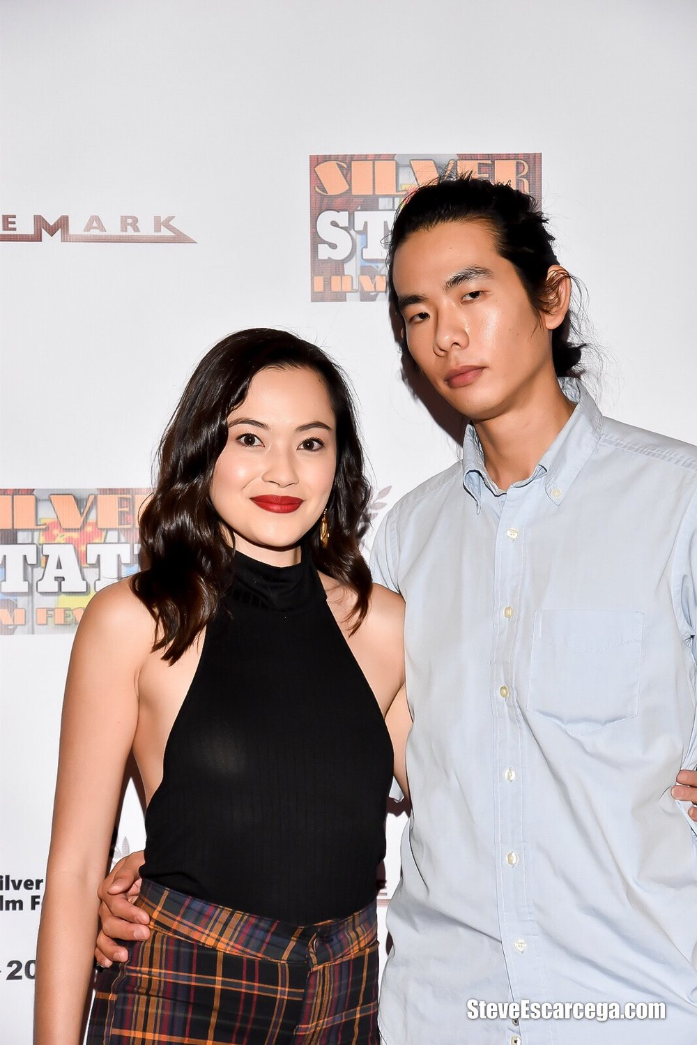 "Trisha Molina and director Adam Jay Ung at the Silver State Film Festival screening of ""The Spirit Room""; September 9, 2018 Las Vegas, NV"