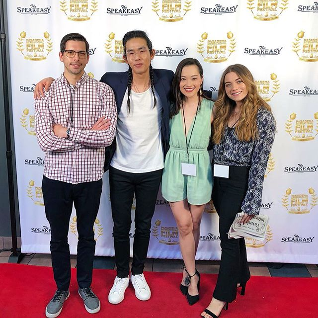 """Today was fun! Special thank you to @pasadenafilmfestival for screening """"The Spirit Room"""" and including us in such a talented block of filmmakers! I'm stoked at how great of a run this film has had and I'm so appreciative of the support I've received from you guys. Thank you a million! 🥰 . . . . #filmfestival #pasadenainternationalfilmfestival #actress #film #indiefilm #shortfilm #thespiritroom #thespiritroomfilm #actorslife #officialselection"""