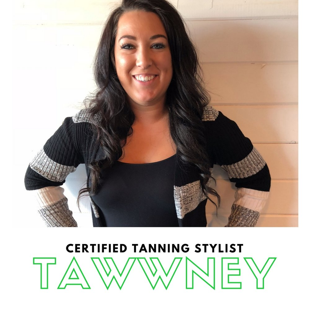 """Tawwney is a Grand Valley State University graduate with a mad passion for people and public relations. When she isn't getting you beautiful you catch her at the University Club or photographing weddings. In her free time you can find her exploring new places, surrounded by friends or trying the latest craft beer. With over 8 years of customer service experience and over three years in the beauty industry Tawwney is guaranteed to give you a confident glow inside and out. """"I love working in an industry that provides services that make people feel good about themselves and I'm excited to build relationships with existing and new clients who value safe beauty practices as much as I do!"""""""