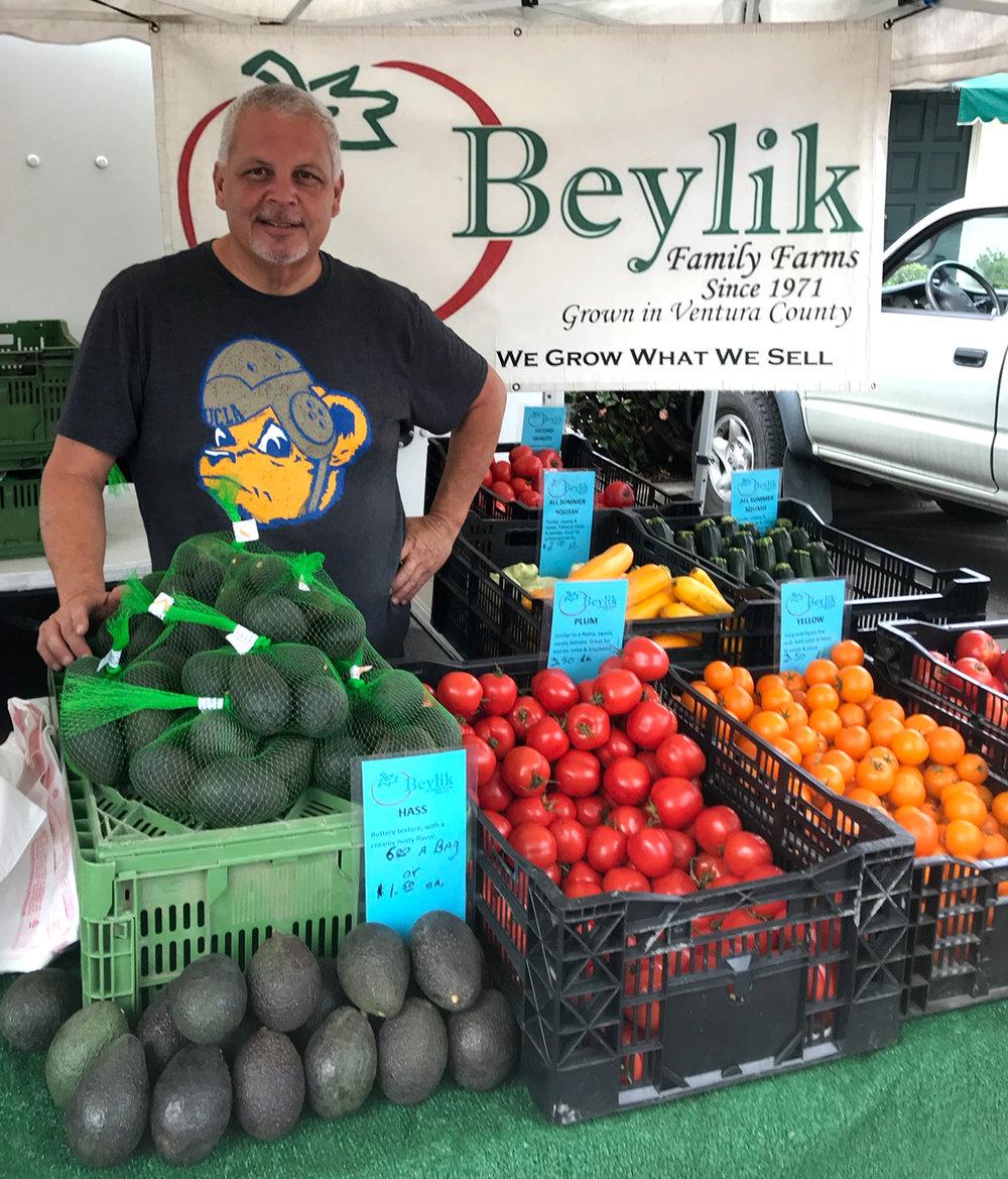 Mark Ortega hosts our booth at the Carpinteria Farmer's Market.