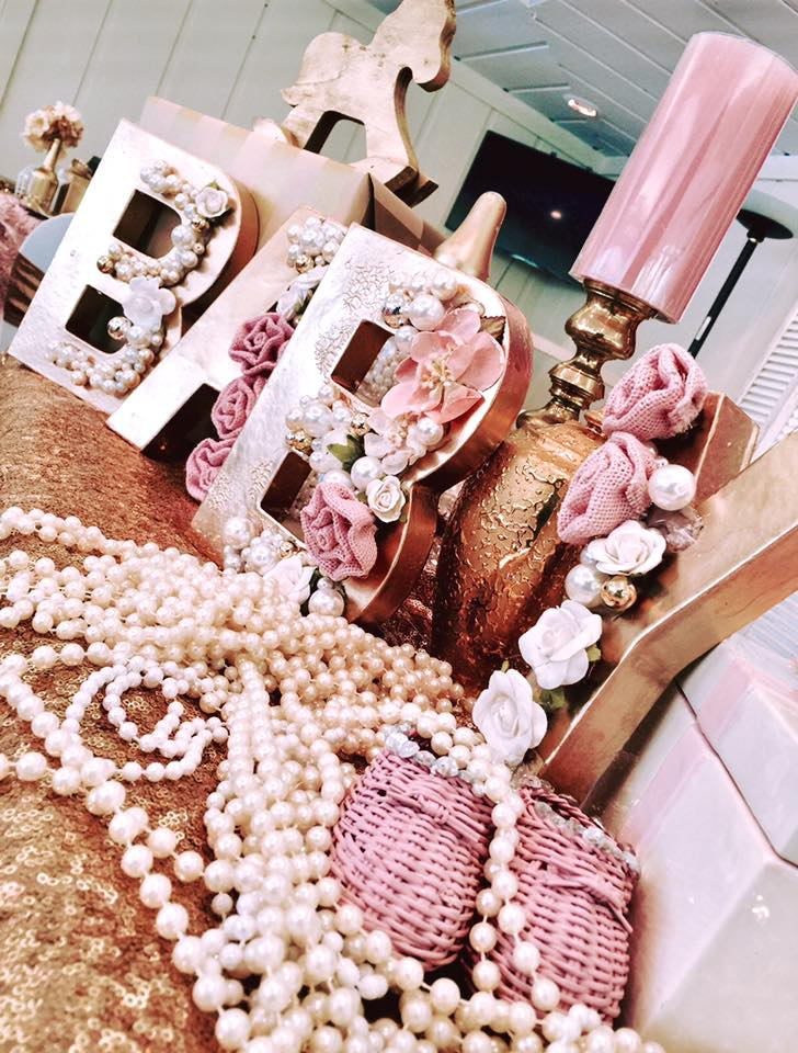 Rose Gold Vintage Baby Shower