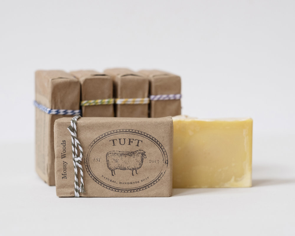 Tuft's Woolen Soaps  are perfect for your body and for your knits!