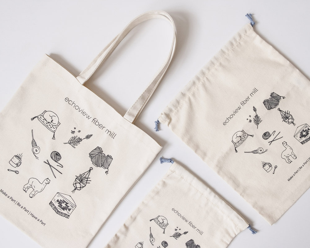 Our very own  Project Bags ! In small, medium, and large these bags are designed to keep your projects organized.