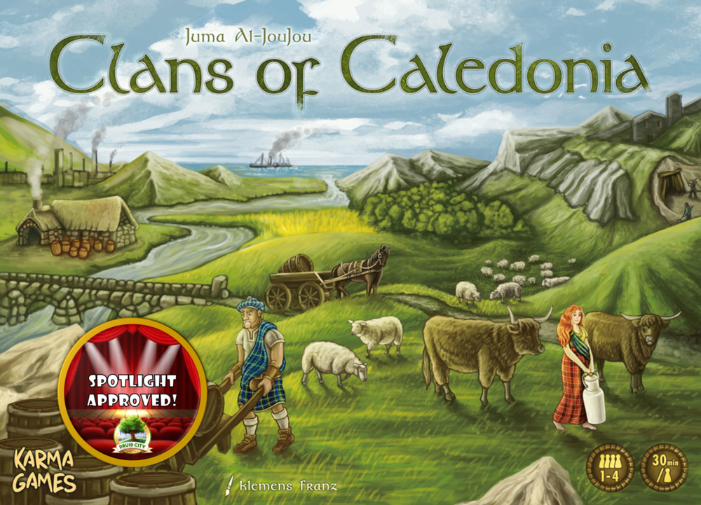 Clans of Caledonia receives the BGS Seal of Approval!