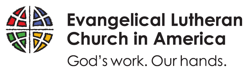 ELCA logo with Our Work, Our Hands tagline