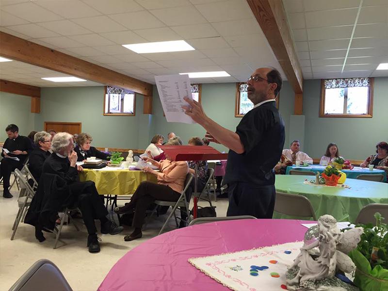 Bishop John Macholz goes to Frewsburg