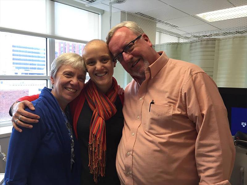 Bishop John Macholz visits family