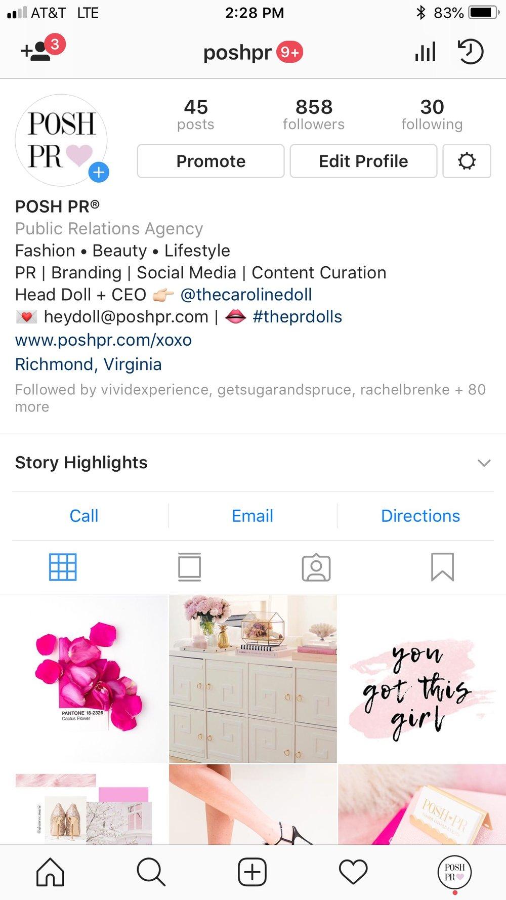 Follow POSH PR®!