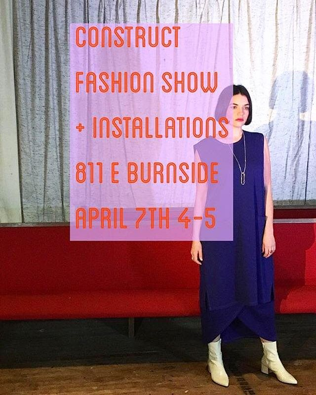 It's fashion show time! April 7th 4-5pm! Join me and my fellow designers at the @the_ones_shop along with the other talented designers and makers of the @811shops for CONSTRUCT fashion show and installations. We are collaborating with @designweekpdx to showcase the incredible talents of local apparel, jewelry and accessory designers located at the @811shops . Each designer will be transforming their shop/studio into a unique fashion installation. The designers of the @the_ones_shop and @hauntportland will be showing their wares in a collaborative show that starts at 4pm! Hope to see you all there! 🖤⭐️⚡️photo: @mint_hibiscus Model: @brianna.kirsch