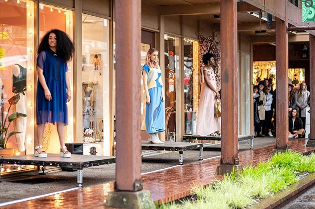I love myself a rainy fashion show! Thanks to everyone who came out for our fashion show at the @811shops for @designweekpdx So many incredible pieces by the designers of the @the_ones_shop and @hauntportland ✨photos by  @ianjwhitmore