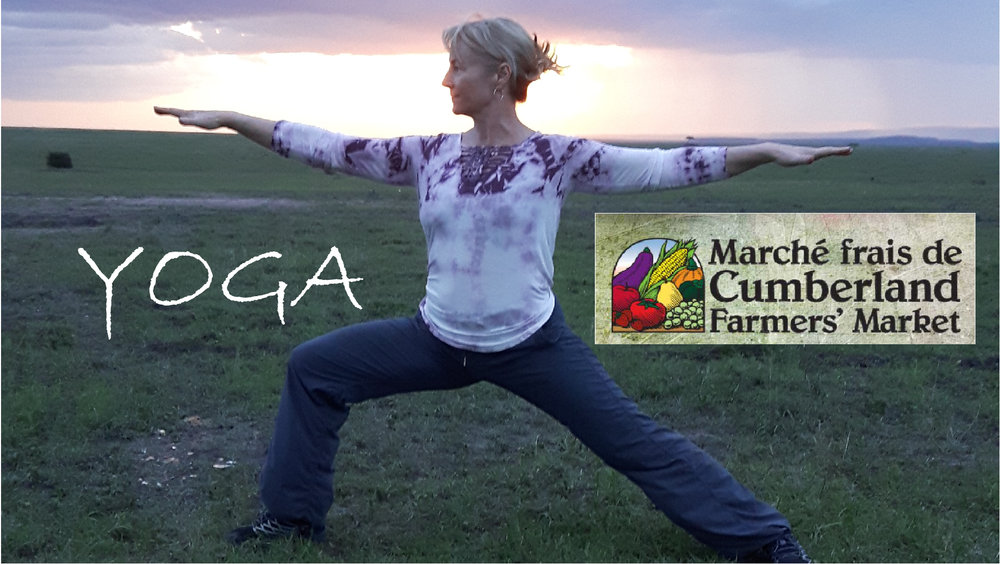 Yoga at the Cumberland Market - Every Saturday morning during the summer 11amCome enjoy a FREE outdoor yoga practice. No experience needed. Sun and shade provided by mother nature when she feels like it   Saturday June 9 to August 4, 2018