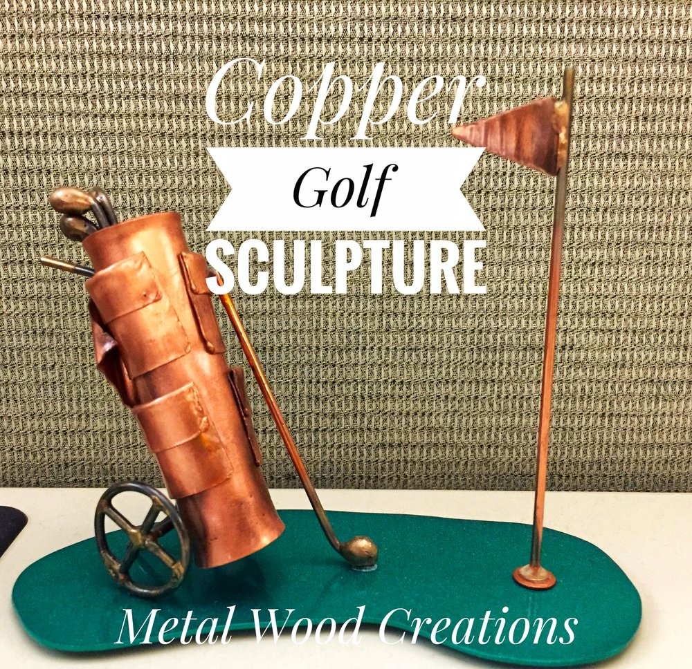 Golf Display - Accents for the Man Cave, Office, or Den