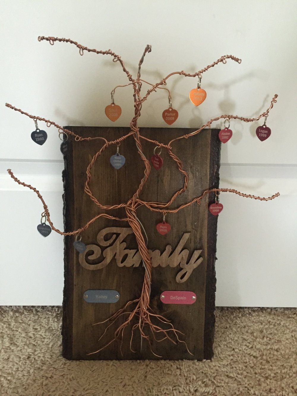 Copper Wire and Wood Wall Art