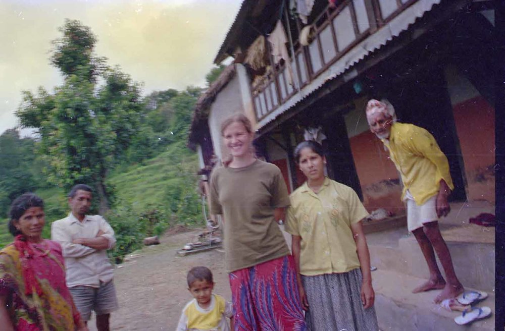 Bibek and Natasha in 1995 in Lamjung.