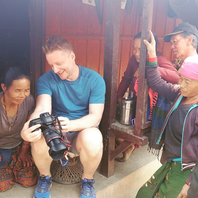 New York photographer @jcarterrinaldi is in Rainaskot to shoot photos for Sangsangai. The villagers love to see the beautiful portraits of them that he has captured.