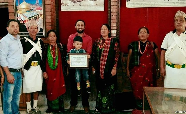 The villagers of Rainaskot were in Kathmandu this week to accept an award for their guest program, also know as homestay. Bibek from Sangsangai was also able to join them.  We are so proud of them for this honor and also want to share this award with all the donors.