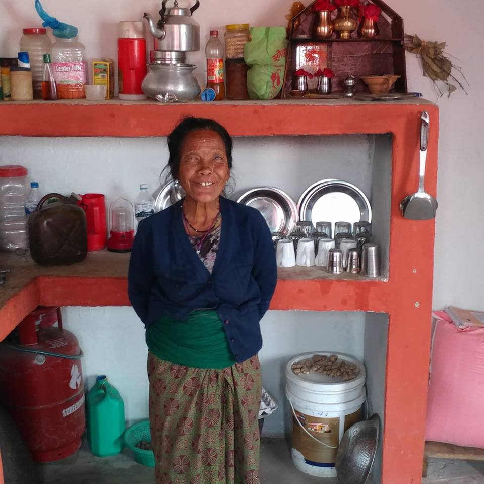 Bimala Bhujel in her new kitchen