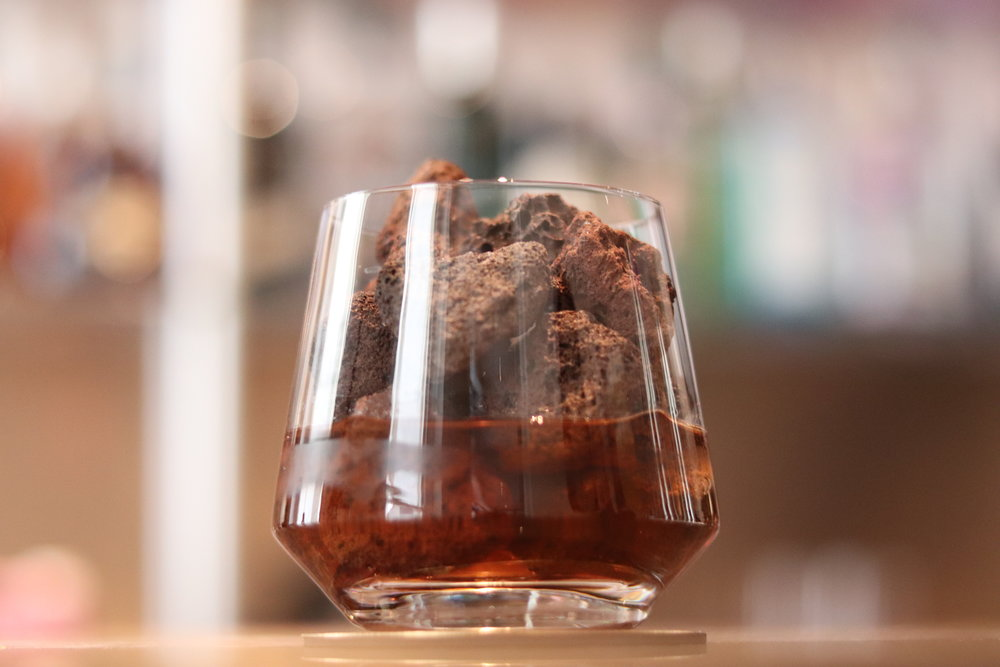 Scotch on the rocks cocktail created for Garima Mayfair