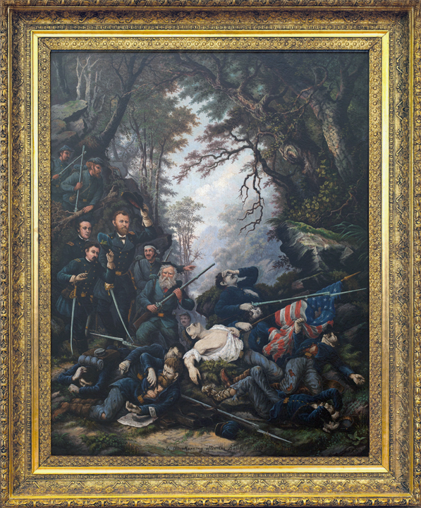 Important A  R  Waud Civil War oil found in antique shop — Christine