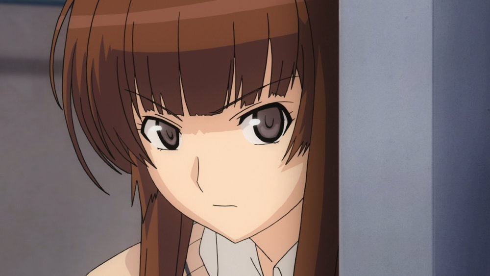 Risa Kamizaki making sure Junichi doesn't stray. (Amagami SS)