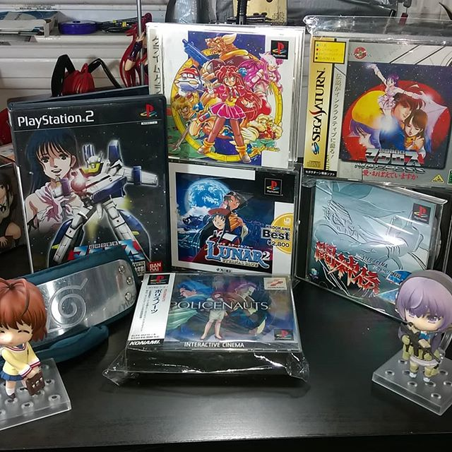 Scored some pretty choice imports from a retro gaming con last weekend! #retroworldexpo #retrogaming #importgaming #lunar2 #macross #battlearenatoshinden #policenauts #hideokojima #crimecrackers