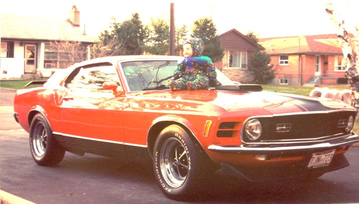 The 1970 Mach 1.  I was enjoying the view atop the shaker hood