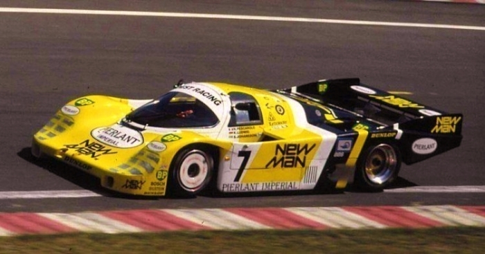 The 117 chassis racing with the high-speed wing package at LeMans in 1984.