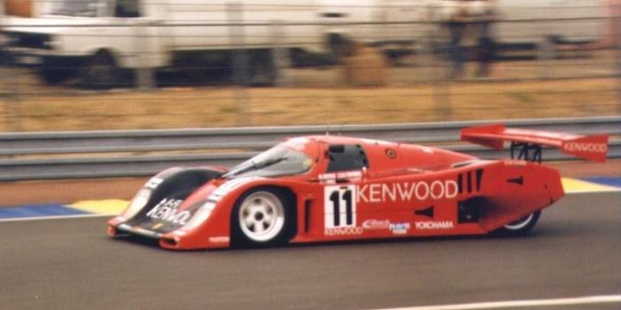 A Kenwood sponsored Kremer 962CK at The 24 Hours of Le Mans